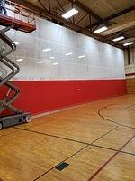 WWMS Old Gym - New Divider Installed